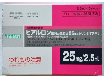 TEVA hyaluronic acid - 10 syrg. 25 mg X 2,5 ml (joint agent)