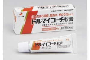 Dolmycorti ointment (topical antibiotic, corticosteroid)