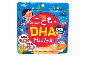 DHA drop gummy: DHA and EPA omega-3 fatty acids for kids from Japan (fish oil, child support)