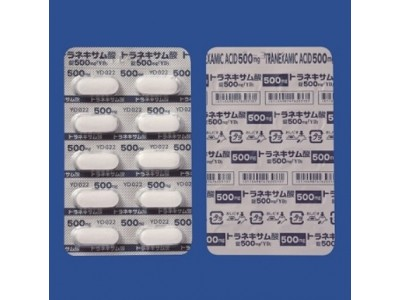 Tranexamic acid 500 mg in tablets from Japan