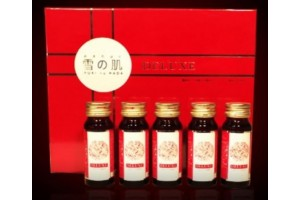 Yukinohada Deluxe for rejuvenation: 10 bottles of 30 ml with swallow's nest and collagen