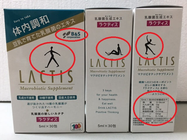 Lactis Japanese package